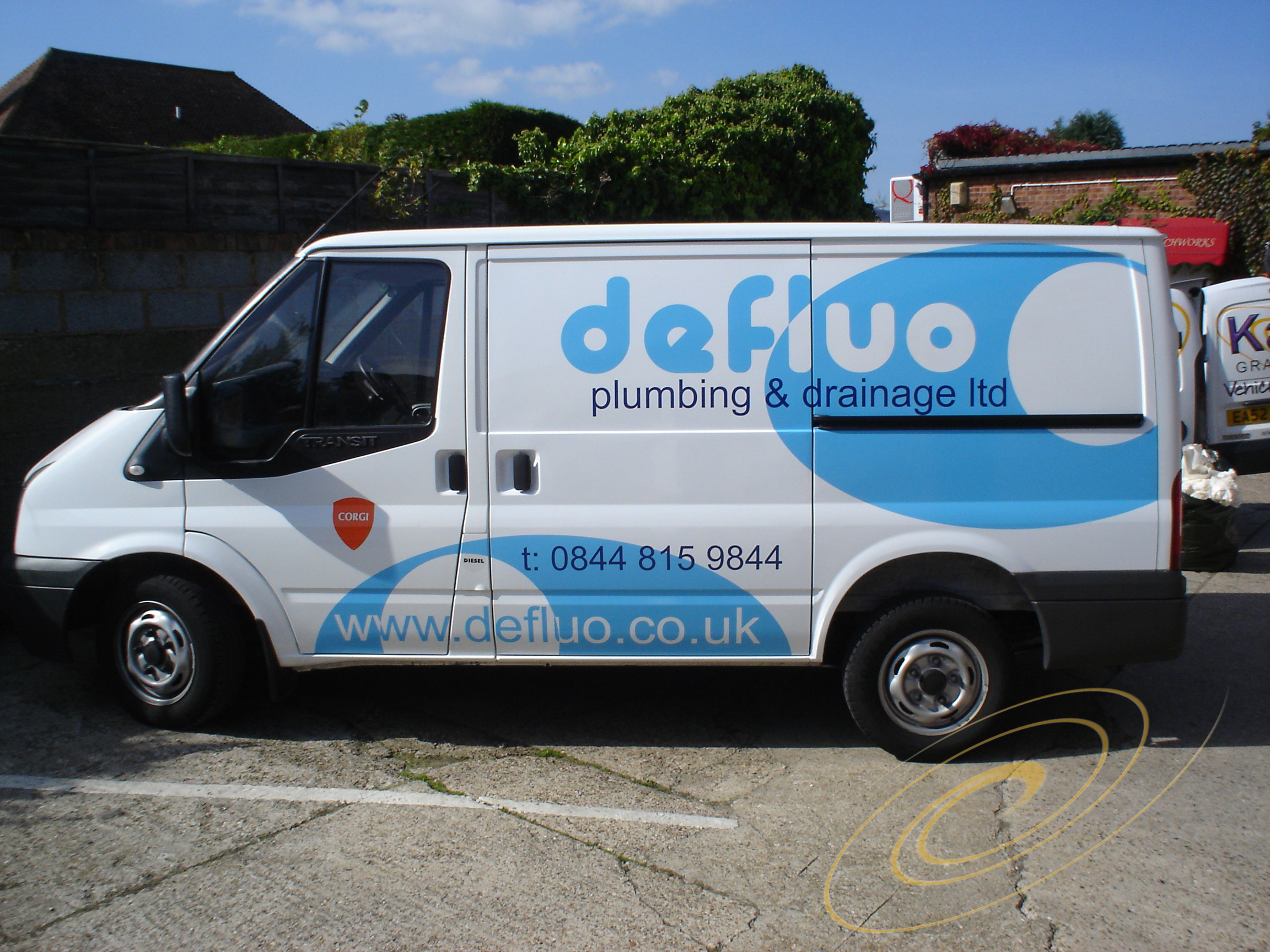 b01cbde018 ford transit connect signwriting. eye catching van graphics kent